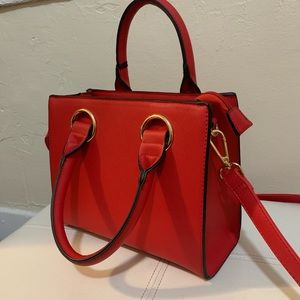 Bags - NWT Red vegan leather crossbody bag